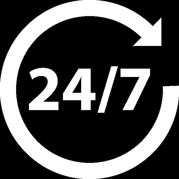 24/7 open market icon